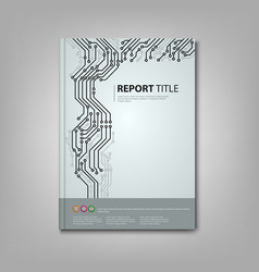 Brochure book with printed circuit board template vector