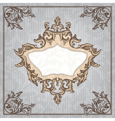 Abstract retro vintage floral frame vector
