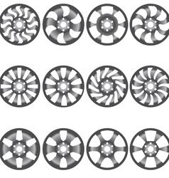 Car alloy wheels vector