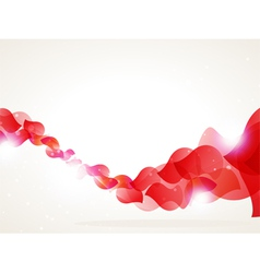 Red petals wave vector
