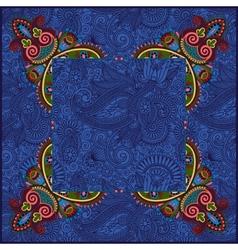 Ethnic ukrainian ornament on paisley background vector