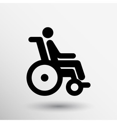 Handicap handicapped chair wheel accessible an vector