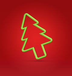 Festive wire tree xmas on red vector
