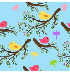 Seamless birds vector