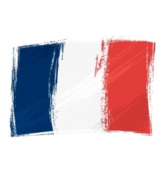 Grunge france flag vector