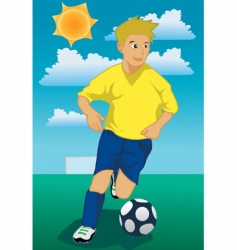 Soccer run vector