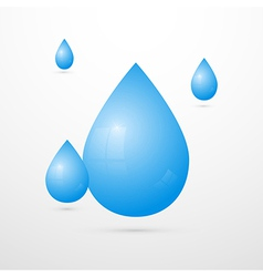 Blue water drops isolated on white background vector