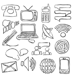 Sketch communication images vector