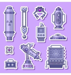 Lab stickers vector