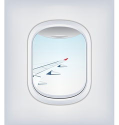 Window airplane 04 vector