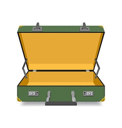 Opened suitcase isolated vector