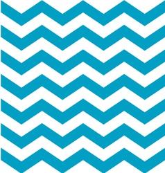 Beautiful aqua blue and white chevron pattern vector