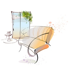 Home lounge sketch vector