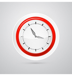 Abstract red and white clock isolated on white vector