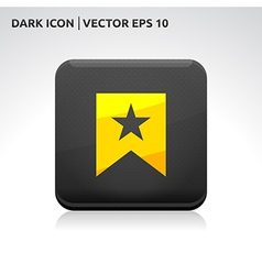 Favorite icon gold vector