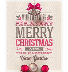 Christmas type design and holidays decoration vector