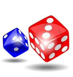 Red and blue dice vector