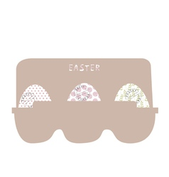 Easter eggs in cardboard packing vector