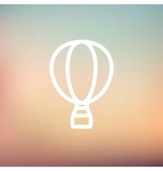 Hot air balloon thin line icon vector