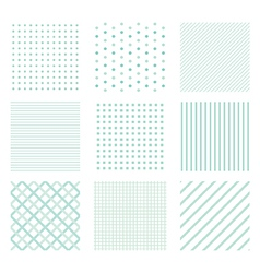Seamless simple patterns vector