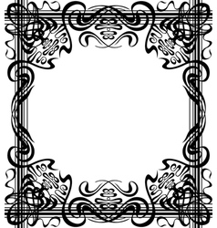 Flourishes border vector