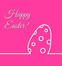 Dotted easter egg simple line holiday poster vector