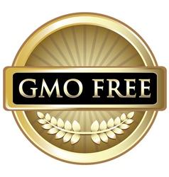 Gmo free gold label vector
