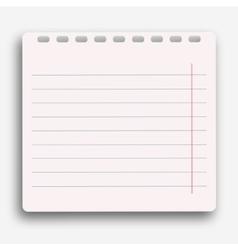 Modern notebook on white background vector