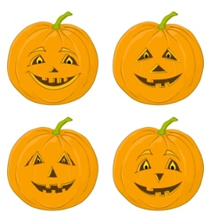 Pumpkin jack o lanterns vector