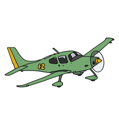 Green airplane vector