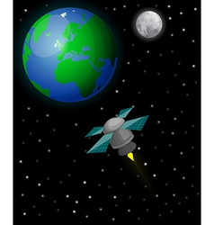 Satellite in space vector