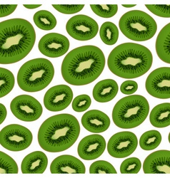 Colorful sliced kiwi fruits seamless pattern eps10 vector