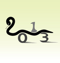Snake for 2013 year sign car vector