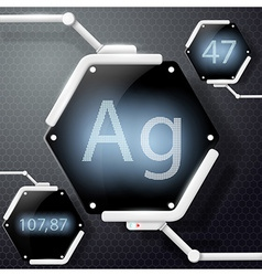 Chemical element silver vector