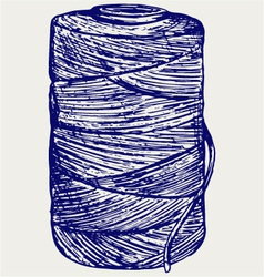 Roll of twine cord vector