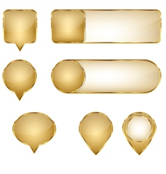Elegant golden web buttons pins and sliders vector