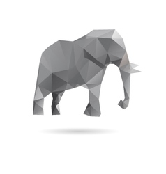 Elephant abstract isolated on a white backgrounds vector