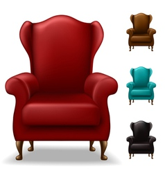 Old armchair set vector