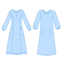 House dress nightdress vector