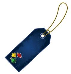 Christmas ornament cartoon gift tag vector