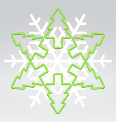 Wire snowflake christmas background vector