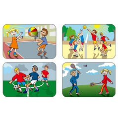 Children playing games vector