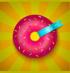 Love donuts vector