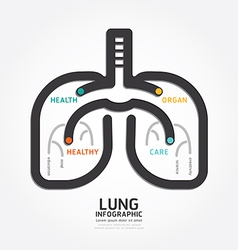 Infographics lung design organ concept vector