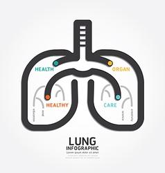 Infographics lung design organ concept vector
