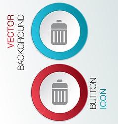 Basket garbage vector