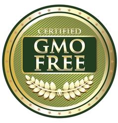Gmo free green label vector