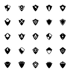 Design shield icons on white background vector