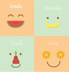Smile fruit vector