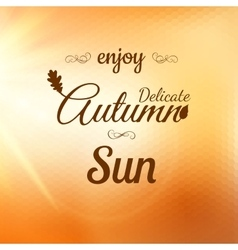 Enjoy autumn background eps 10 vector